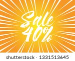 sale 40   beautiful greeting... | Shutterstock .eps vector #1331513645