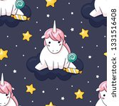 cute hand drawn unicorn... | Shutterstock .eps vector #1331516408