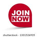 red vector banner join now | Shutterstock .eps vector #1331526935