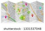 design map city gps  | Shutterstock .eps vector #1331537048