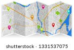design map city gps madalena | Shutterstock .eps vector #1331537075