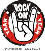 rock and roll sign vector | Shutterstock .eps vector #133156175