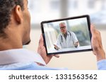 virtual live chat with the... | Shutterstock . vector #1331563562