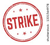 strike sign or stamp on white... | Shutterstock .eps vector #1331564978