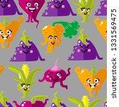 vegetables character pattern... | Shutterstock .eps vector #1331569475