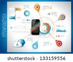 infographic template for cloud... | Shutterstock . vector #133159556