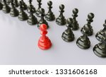 leadership concept  red pawn of ... | Shutterstock . vector #1331606168