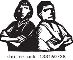 black and white vector... | Shutterstock .eps vector #133160738