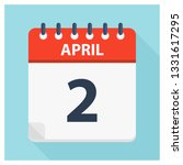 april 2   calendar icon  ... | Shutterstock .eps vector #1331617295