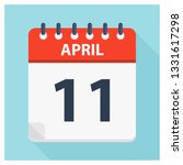 april 11   calendar icon  ... | Shutterstock .eps vector #1331617298
