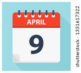 april 9   calendar icon  ... | Shutterstock .eps vector #1331617322