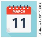 march 11   calendar icon  ... | Shutterstock .eps vector #1331617325