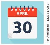 april 30   calendar icon  ... | Shutterstock .eps vector #1331617358