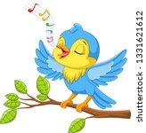 cute little bird sings on a...   Shutterstock .eps vector #1331621612