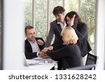 business people putting their... | Shutterstock . vector #1331628242