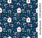 vector cute seamless pattern... | Shutterstock .eps vector #1331643392