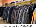 locker room many clothes in... | Shutterstock . vector #133165148