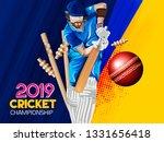 illustration of batsman in... | Shutterstock .eps vector #1331656418