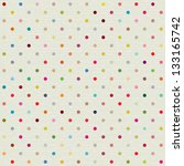 seamless pattern with polka dot | Shutterstock .eps vector #133165742