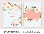 wedding invitation  floral... | Shutterstock .eps vector #1331666132