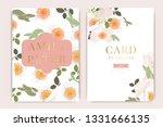 wedding invitation  floral... | Shutterstock .eps vector #1331666135