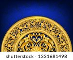 gold baroque ornament template... | Shutterstock .eps vector #1331681498