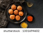 fried potato cheese balls or... | Shutterstock . vector #1331694602