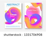 set of white posters with...   Shutterstock .eps vector #1331706908