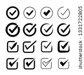 check mark icons set | Shutterstock .eps vector #1331722805