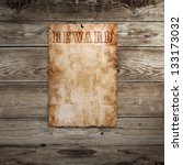 old western wanted poster on... | Shutterstock . vector #133173032