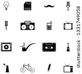 retro icon set | Shutterstock .eps vector #1331749058
