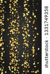 golden confetti falling on...   Shutterstock .eps vector #1331749358