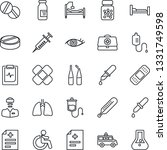 thin line icon set   disabled... | Shutterstock .eps vector #1331749598