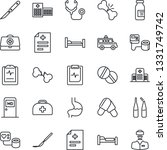 thin line icon set   bed vector ...   Shutterstock .eps vector #1331749742