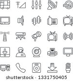 thin line icon set   antenna...   Shutterstock .eps vector #1331750405