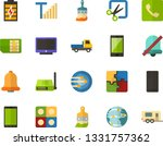 color flat icon set   screen...
