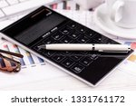accounting. items for doing... | Shutterstock . vector #1331761172