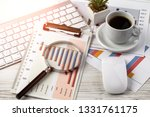 accounting. items for doing... | Shutterstock . vector #1331761175