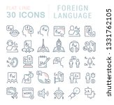 set of vector line icons of... | Shutterstock .eps vector #1331762105