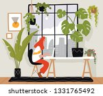 young  female freelancer is... | Shutterstock .eps vector #1331765492
