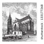 saint martin's church in colmar ... | Shutterstock .eps vector #133177268