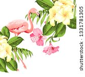 tropical birds and flowers... | Shutterstock .eps vector #1331781305