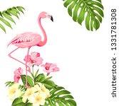 flamingo background design.... | Shutterstock .eps vector #1331781308