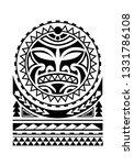 maori tattoo design  with sun... | Shutterstock .eps vector #1331786108