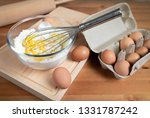 dough and ingredients on the... | Shutterstock . vector #1331787242