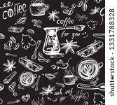 coffee grains  cup  saffron ... | Shutterstock .eps vector #1331788328