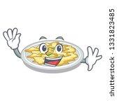 waving scrambled egg in the... | Shutterstock .eps vector #1331823485