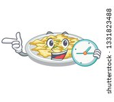 with clock scrambled egg in the ... | Shutterstock .eps vector #1331823488