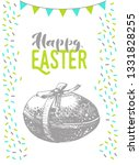 hand drawn easter card with... | Shutterstock .eps vector #1331828255
