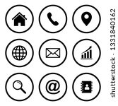 website icon  web icon set | Shutterstock .eps vector #1331840162